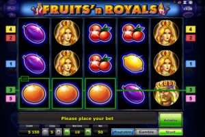 Игровые автоматы Fruits and Royals от Вулкан